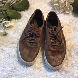Leather brown vans